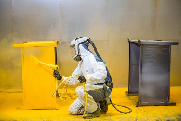 powder coating at pym and wildsmith