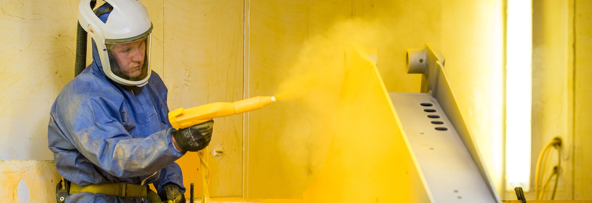 Powder coating spray paint