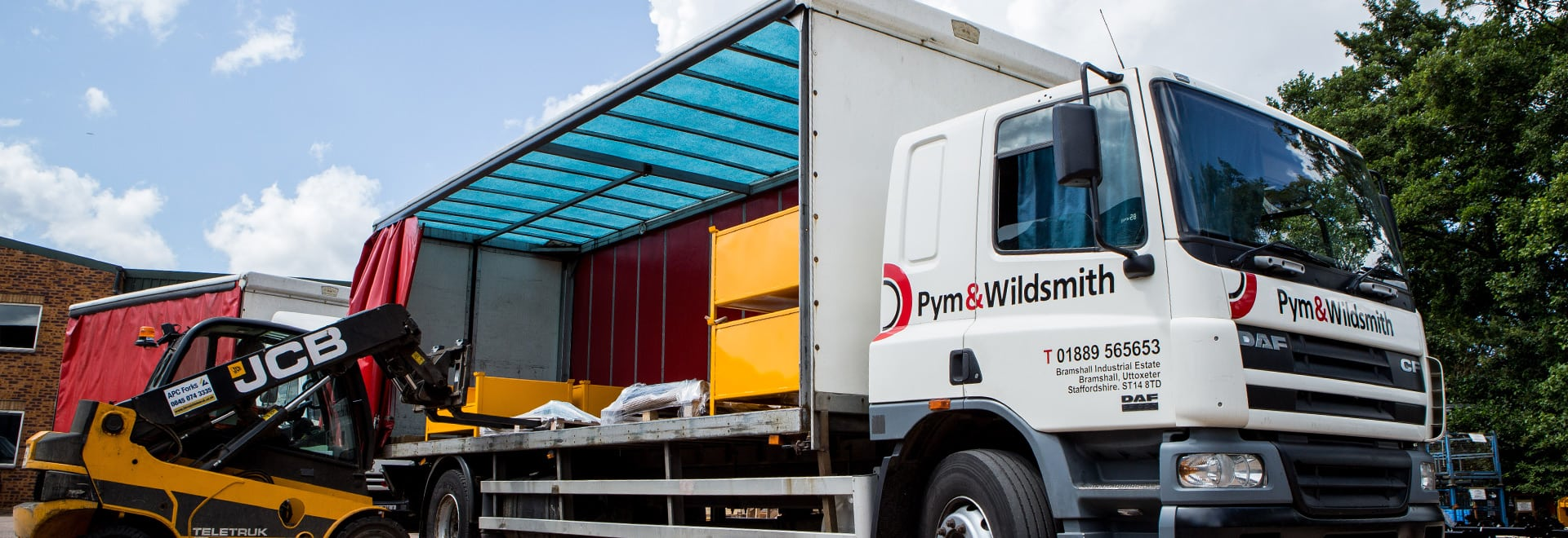 Metal finishers Pym and Wildsmith can collect and deliver in Staffordshire, Derbyshire and Cheshire
