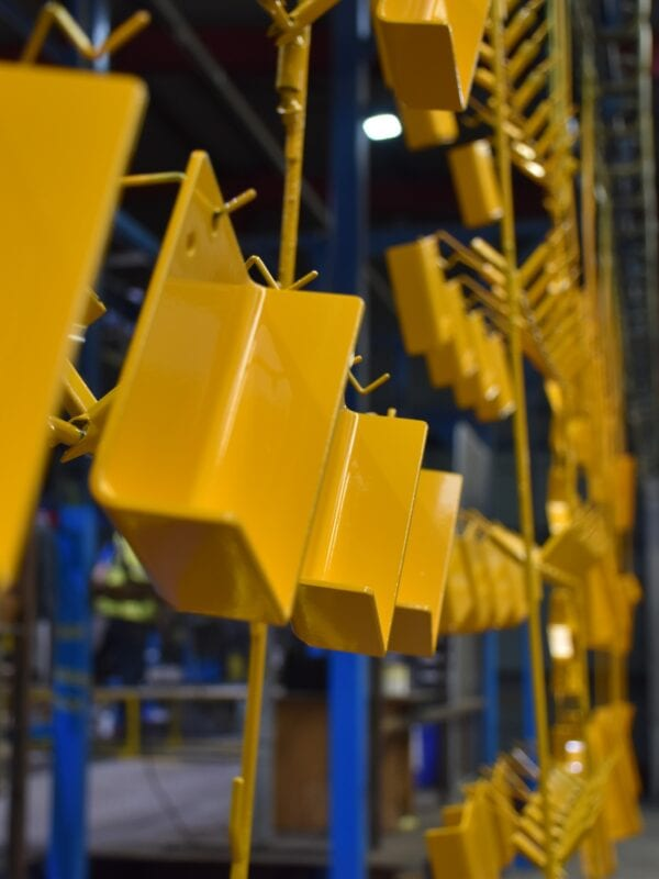 yellow powder coating by pym and wildsmith