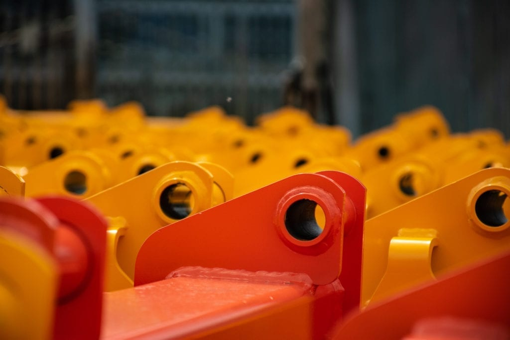 Orange and yellow powder coated products