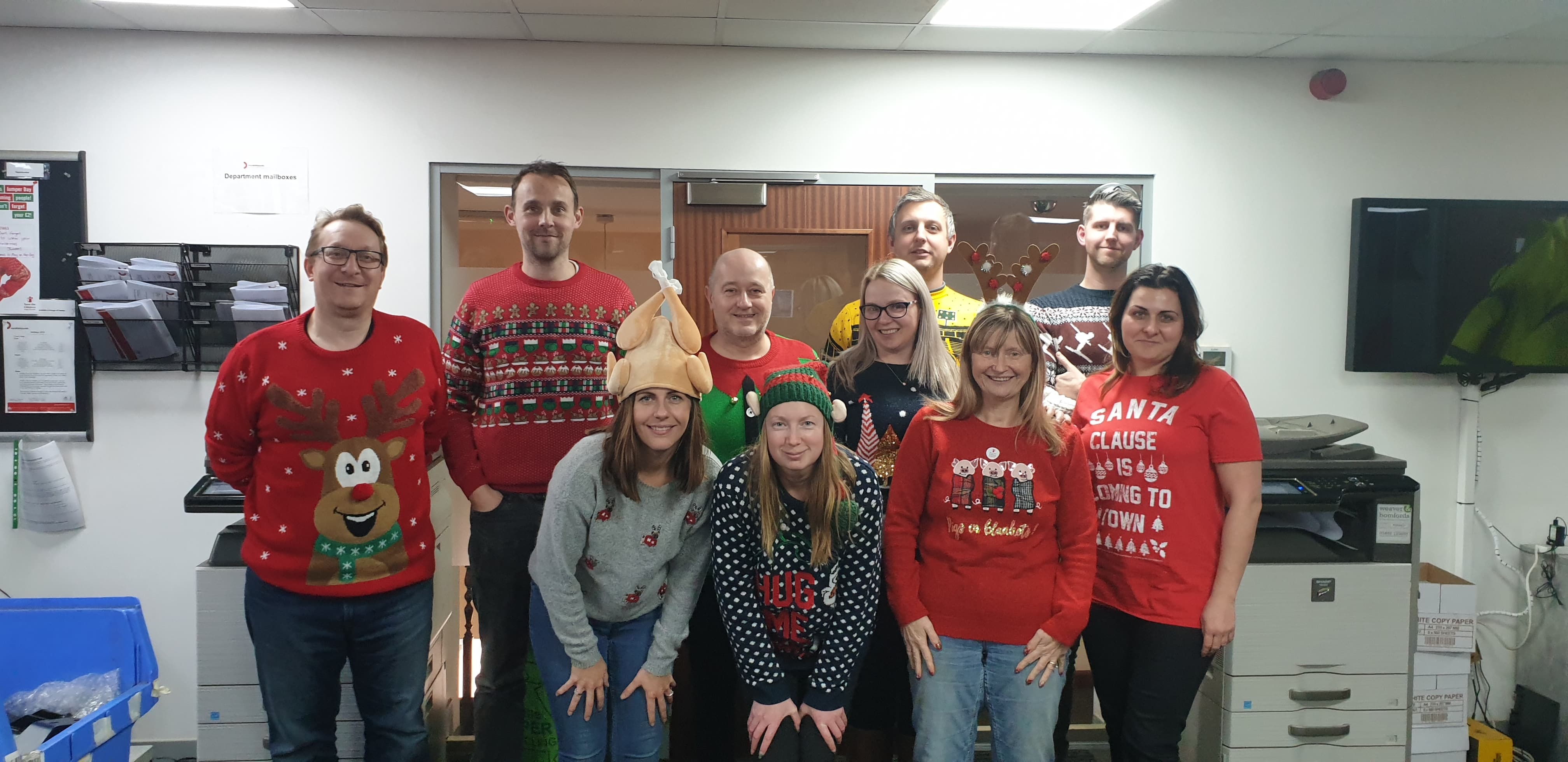 pym and wildsmith christmas jumper day