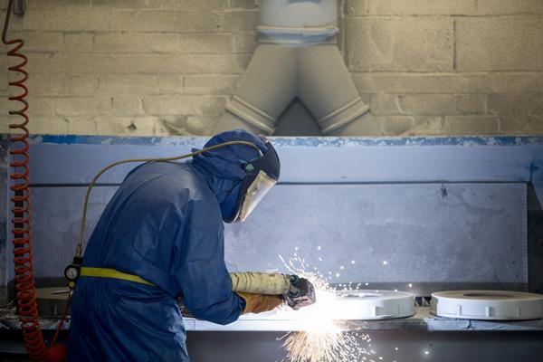 Thermal Spray aluminium coating at Pym & Wildsmith