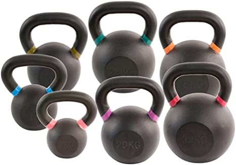 Kettlebells with surface coatings